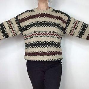 Eddie Bauer Grandpa oversized 90s cotton sweater S